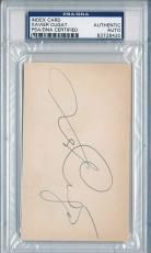 Psa/dna Signed Index Card Xavier Cugat  8420