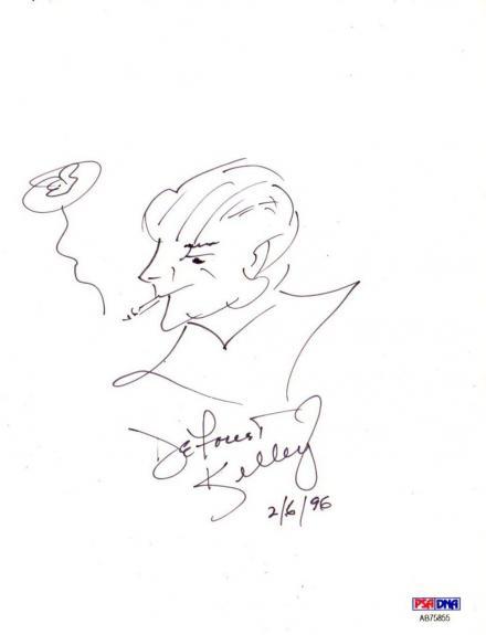 Psa/dna Star Trek Deforest Kelley Autographed-signed Original Artwork Ab75855