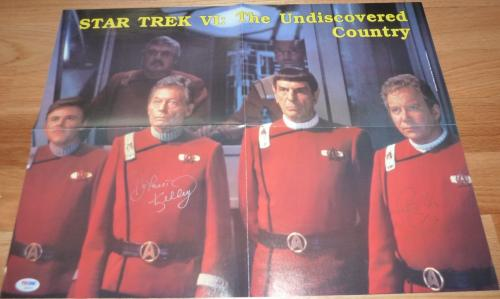 Psa/dna Star Trek William Shatner & Deforest Kelley Autographed Poster Ab03918