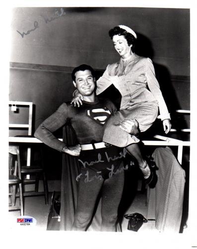 "Psa/dna Superman Noel Neill ""lois Lane"" Twice Autographed-signed 8x10 Photo 2184"