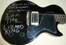 "Psa/dna Val Kilmer ""jim Morrison Break On Thru"" Autographed-signed Guitar X89963"