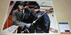 Van Williams Green Hornet with Bruce Lee Autographed 11x14 Photo H PSA/DNA