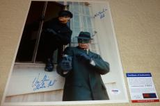 Van Williams Green Hornet with Bruce Lee Autographed 11x14 Photo V PSA/DNA