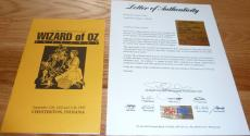 Psa/dna Wizard Of Oz Autographed-signed 1995 Program Signed By 9 Cast Members 42