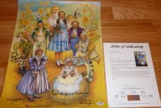 Psa/dna Wizard Of Oz Munchkins Signed Poster Maren-sewnsen-carol-raabe-slover 98