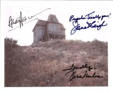 """PSYCHO""""  Signed by ANTHONY PERKINS, JANET LEIGH, and VERA MILES Signed 8x10 Color Photo"""