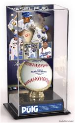 Yasiel Puig Los Angeles Dodgers Gold Glove Baseball Display Case - Mounted Memories