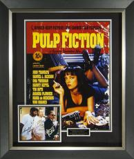 Pulp Fiction John Travolta & Cast Signed Poster Framed D