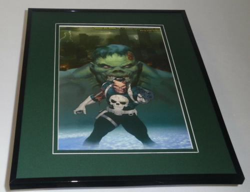 Punisher War Journal Marvel Zombies #12 Framed 11x14 Poster Display Hulk