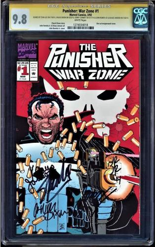 Punisher War Zone #1 9.8 Ss Signed 5x's Stan Lee Dixon,romita, ++ #1274034018