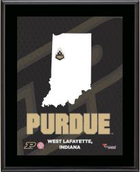 "Purdue Boilermakers Sublimated 10.5"" x 13"" State Plaque"