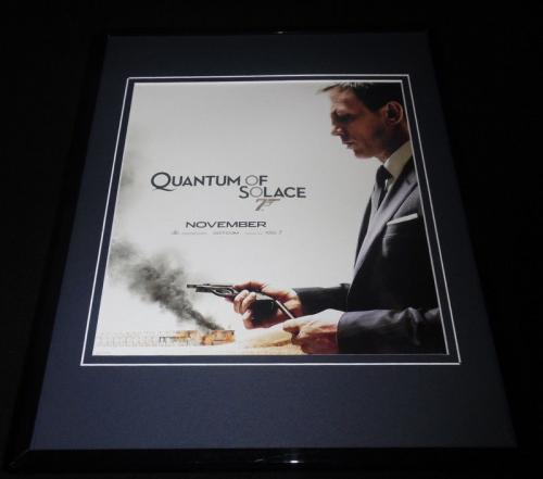 Quantum of Solace Framed 11x14 Repro Movie Poster Display James Bond D Craig