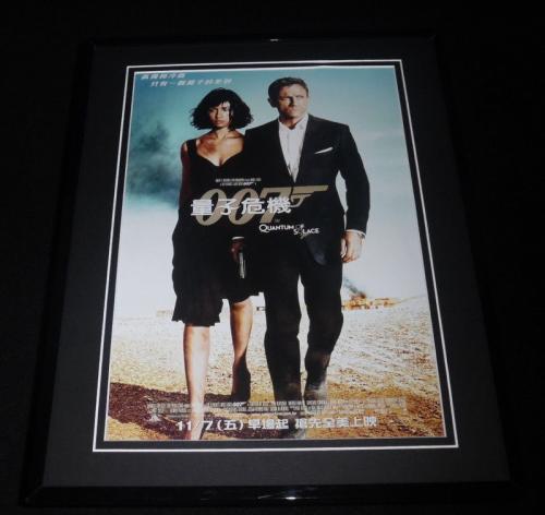 Quantum of Solace James Bond Framed 11x14 Repro Poster Display Daniel Craig