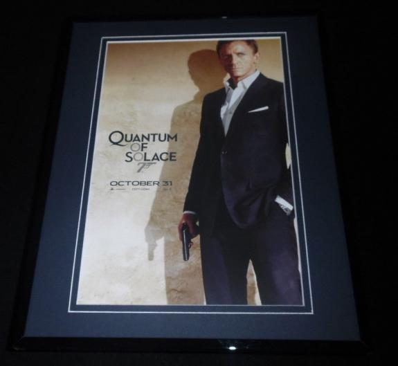 Quantum of Solace James Bond Framed 11x14 Repro Poster Display Daniel Craig