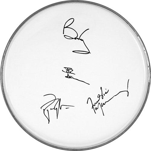 Queen Facsimile Signature   Freddie Mercury Brian May+ Clear Drumhead