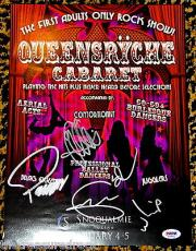 QUEENSRYCHE autographed signed ADULT CABARET SNOQUALMIE CASINO poster PSA DNA