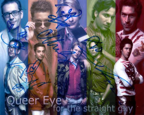Queer Eye For The Straight Guy Autographed 8x10 Photo AFTAL UACC RD COA
