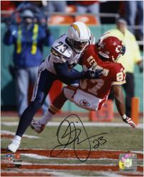 Quentin Jammer San Diego Chargers Autographed 8'' x 10'' vs Kansas City Chiefs Photograph - Mounted Memories
