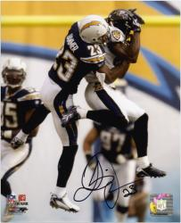 "Quentin Jammer San Diego Chargers Autographed 8"" x 10"" vs Baltimore Ravens Photograph"