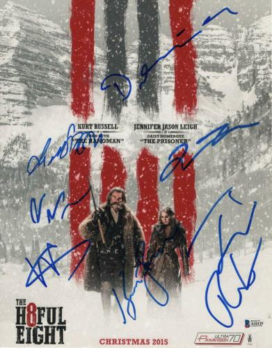 QUENTIN TARANTINO +6 FULL CAST SIGNED AUTOGRAPH THE HATEFUL EIGHT 11x14 POSTER