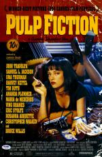"""Quentin Tarantino Autographed 12"""" x 18"""" Pulp Fiction Movie Poster - PSA/DNA"""