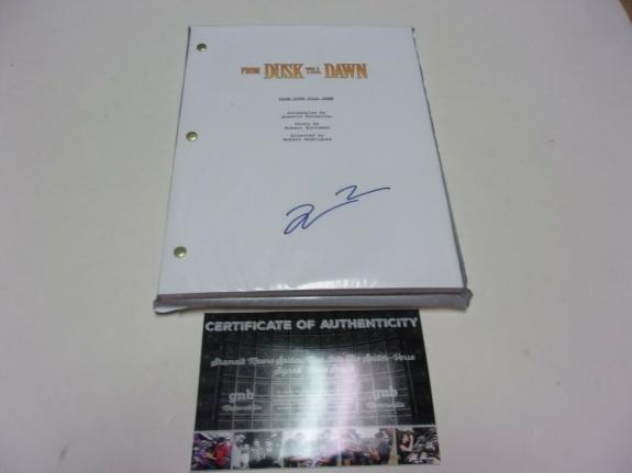 Quentin Tarantino Director From Dusk Till Dawn W/coa Signed Full Movie Script