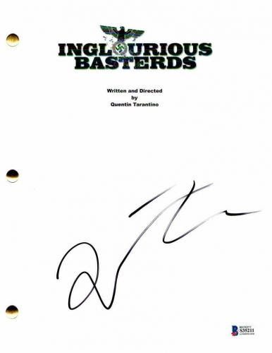 Quentin Tarantino Signed Autograph - Inglourious Basterds Movie Script Bastards