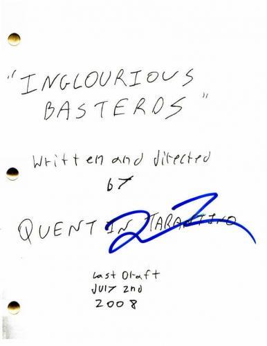 Quentin Tarantino Signed Autograph - Inglourious Basterds Movie Script -bastards