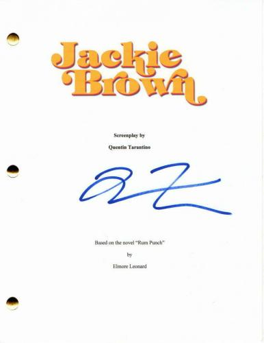 Quentin Tarantino Signed Autograph - Jackie Brown Full Movie Script