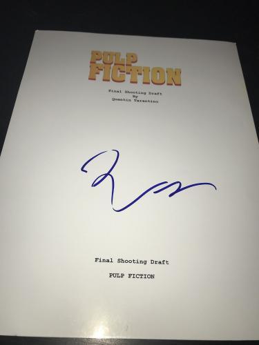 Quentin Tarantino Signed Autograph Movie Script Pulp Fiction Thurman Coa Auto D