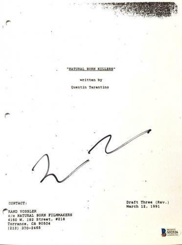 Quentin Tarantino Signed Autograph - Natural Born Killers Movie Script - Beckett