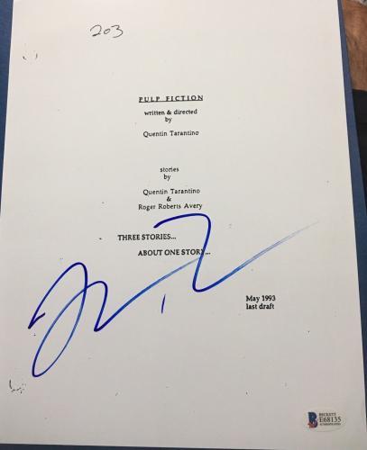 "Quentin Tarantino Signed Autograph ""pulp Fiction"" Complete Movie Script Beckett"
