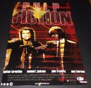 "QUENTIN TARANTINO SIGNED AUTOGRAPH ""PULP FICTION"" FULL POSTER 12x18 PHOTO BAS B"