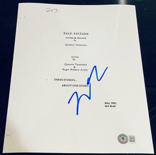 Quentin Tarantino Signed Autograph - Pulp Fiction Rare Movie Script - Beckett A