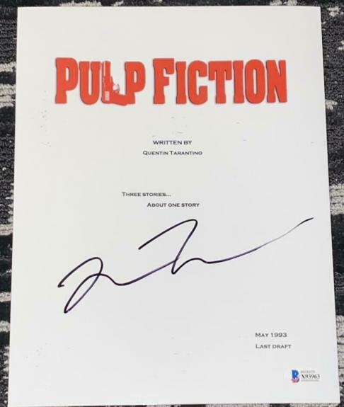 Quentin Tarantino Signed Autograph - Pulp Fiction Rare Movie Script - Beckett B