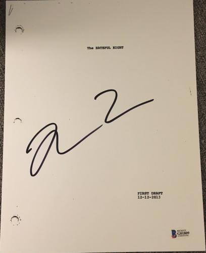 "Quentin Tarantino Signed Autograph Rare ""the Hateful Eight"" Movie Script Beckett"