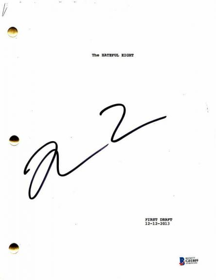 Quentin Tarantino Signed Autograph - The Hateful Eight Movie Script Pulp Fiction