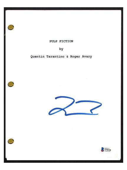 Quentin Tarantino Signed Autographed PULP FICTION Movie Script Beckett BAS COA