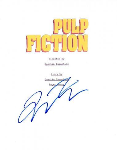 Quentin Tarantino Signed Autographed PULP FICTION Movie Script COA AB