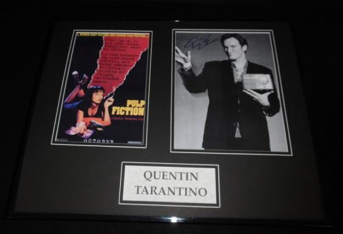 Quentin Tarantino Signed Framed 16x20 Photo Poster Set Pulp Fiction