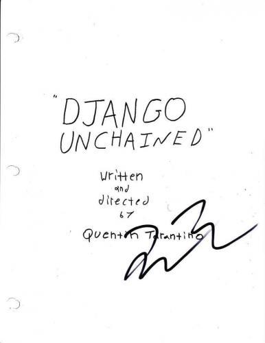 Quentin Tarantino Signed Full Django Unchained Script Authentic Autograph Coa