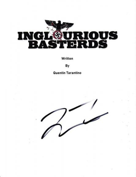 Quentin Tarantino Signed Full Inglourious Basterds Script Autograph Coa