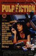 Quentin Tarantino Signed Pulp Fiction 11x17 Movie Poster Psa Coa Ad48167