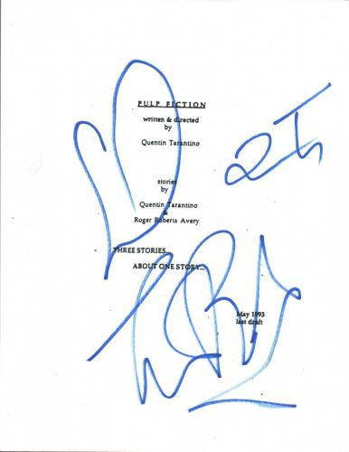 Quentin Tarantino & Tim Roth Signed Autographed PULP FICTION Movie Script COA