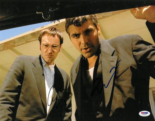QuentinTarantino/George Clooney Signed Dusk Til Dawn Auto 11x14 Photo PSA#V47873