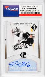 Jonathan Quick Autographed 2011-12 Panini Limited #5 Card