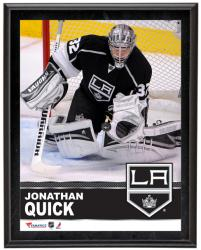 "Jonathan Quick Los Angeles Kings Sublimated 10"" x 13"" Plaque - Mounted Memories"