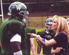 Autographed Michael Oher Photo - QUINTON AARON *THE BLIND SIDE* 8X10 COA C