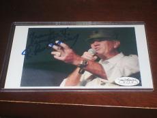 R. Lee Ermey Autographed Signed 4x6 Photo Jsa Coa Rare
