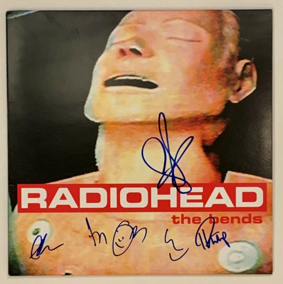 Radiohead Autographed Vinyl Record Album signed by 5 Thom Yorke  Beckett BAS COA